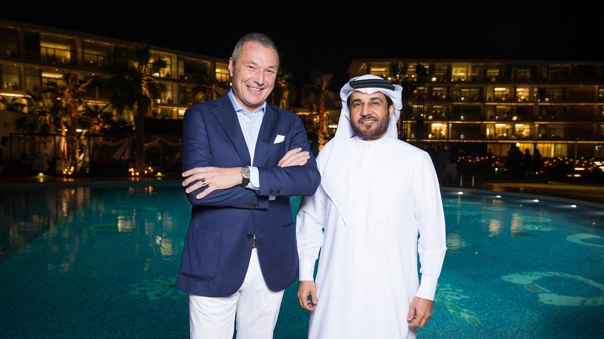 Bvlgari Resort Dubai - Opening Gala - Jean-Christophe Babin with H.E Abdulla Al Habbai