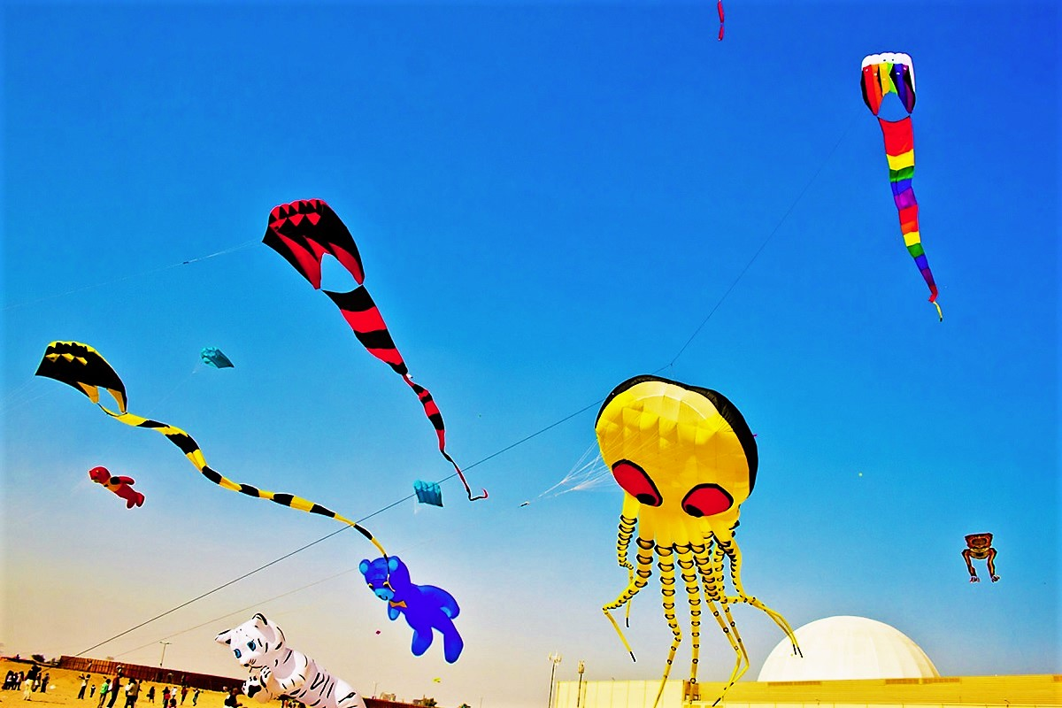 Kite Fiesta 2018 - A Festival of Colorful Kites