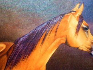 Khalid Mikdadi - Arabian Horse - Etihad Modern Art Gallery - Ajman Hotel