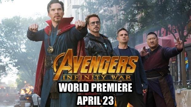 infinity war world premiere