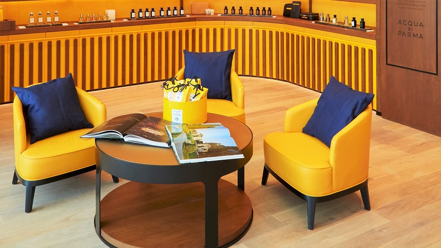 Acqua di Parma Dubai - Stylish Italian Warm Atmosphere