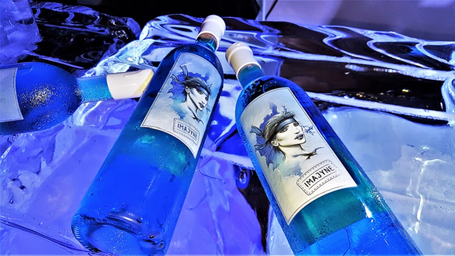 Imajyne Blue Wine - Created by Bruno and Sylvain Milanini